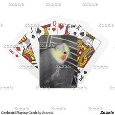 Cockatiel Playing Cards