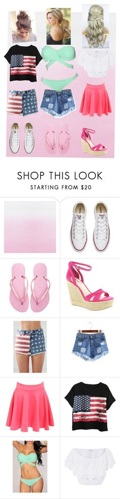 """3 cute summer outfits"" by kaitlynthestylist on Polyvore featuring Designers Guild, Converse, Havaianas, BCBGeneration, Bullhead Denim Co., Pilot, Chicnova Fashion and Miguelina"