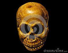 Skull with hat in black background. Desktop wallpaper.