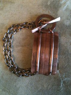 Handmade Copper bracelet by Junk Drawer Gypsy-SOLD