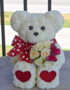 You're Special Bear with white roses #BloomersFlowerShop