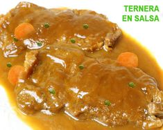 ternera en salsa casera Spanish Dishes, Spanish Food, Mexican Food Recipes, Ethnic Recipes, Baking With Kids, Cooking Recipes, Healthy Recipes, Food Decoration, Barbacoa