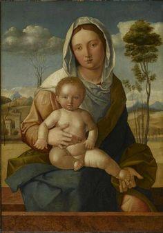 Madonna and Child in Landscape, 15th century Giovanni Bellini Italian, c.1430-1516