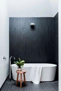 Admiring Black And White Monochrome Bathroom Design Ideas To Have 38 Black Bathroom Sink, Black White Bathrooms, Laundry In Bathroom, Small Bathroom, Charcoal Bathroom, Black Bathrooms, Bathroom Modern, Minimalist Bathroom, Modern Minimalist