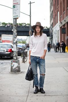 Where do you work? Model What show are you here to see? Theory via @stylelist | http://aol.it/WMAFvL