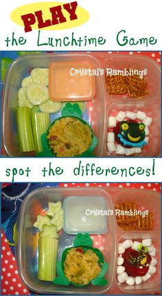 More ways to play with your food :) Packed in EasyLunchboxes. From @Crystal Shook