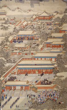 CHINESE Envoys from vassal states and foreign countries presenting tribute to the Emperor Qing dynasty Qianlong period 173695 coloured inks on silk x cm The Palace Museum Beijing Chinese Landscape Painting, Korean Painting, Chinese Painting, Chinese Art, Landscape Paintings, Ancient China, Ancient Art, Japanese Prints, Japanese Art