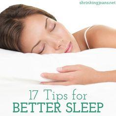17 Tips for Better #Sleep
