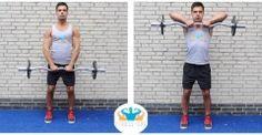UPRIGHT ROW  De Upright row is een oefening voor je schouders, je armbuigers en je trapezius. Deze oefening is een belangrijke oefening om brede schouders te krijgen