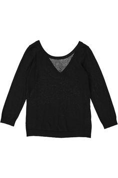 Heloise noir | 24h sweater | Egyptian Mako Cotton - Myto #cavadesoi #cvds #knitwear #fashion #style #cotton #black #sweater #summer #sheer // August