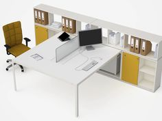 Workstation desk / contemporary / in wood / modular - JOINT by Alberto Stella - ESTEL