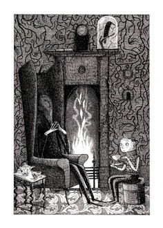 'Uncle Montague's Tales of Terror' by Chris Priestley ©2007 // Illustration by David Roberts.