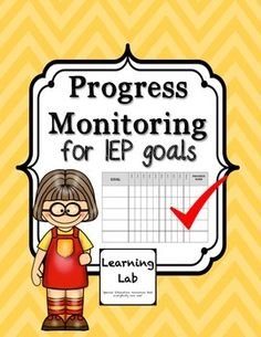 Forms to monitor progress of special education student's IEP goals.  Perfect for tracking for semesters and trimesters.
