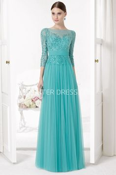 $107.89-Beautiful Sequined Bateau Neck Illusion Sleeve Tulle Evening Gown with Sleeves. http://www.ucenterdress.com/sequined-bateau-neck-illusion-sleeve-tulle-prom-dress-pMK_300788.html. Shop for cheap prom dresses, party dresses, night dresses, maxi dresses, little black dresses, junior prom dresses, girls prom dresses, designer prom dresses for sale. We have great 2016 prom dresses on sale. Buy prom dresses online at UcenterDress.com #prom #dress today!