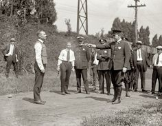 Vest Test: 1923 Testing a bullet-proof vest. Wasn't there a fake dummy to try it on??