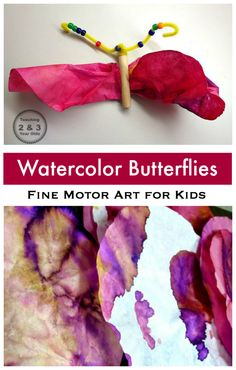 Preschool Butterfly Craft - Teaching 2 and 3 Year Olds