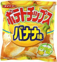 Koikeya Banana Flavor Potato Chips $1.50 http://thingsfromjapan.net/koikeya-banana-flavor-potato-chips/ #banana potato chip #Japanese potato chips #Japanese snack