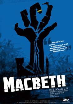 Macbeth Poster  || Ideas and inspiration for teaching GCSE English || www.gcse-english.com ||