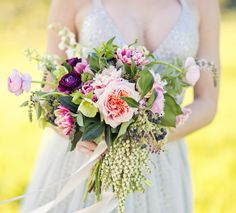 vibrant, unstructured spring bouquet by Sunshine Coast florist, Willow Bud