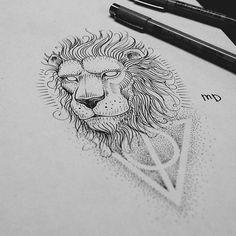 Свободный #tattoosketch #dotwork #lion #drawing #sketch #tattooart #blacktattoo #draw