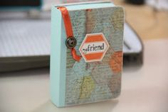 "Check out this tutorial to make an adorable ""book"" gift card holder."