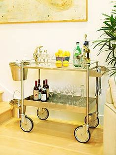 Bar Cart -maybe ideas to make it look nicer...once i find it