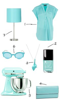 I am in love with all things teal/aqua/turquoise
