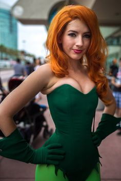 Poison Ivy (Bruce TImm version), by Amanda Shafer   SDCC 2013 #Cosplay