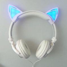 Cat Ear Headphones - With Glowing Ears – Faraday Science Shop