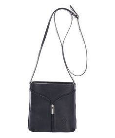 This Black Structured Leather Crossbody Bag is perfect! #zulilyfinds