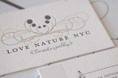 ink + wit | Love Nature NYC business card