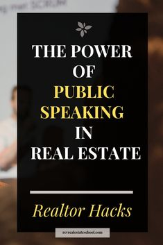 The Power of Public Speaking in Real Estate. Lead generation tricks for real estate agents The Power of Public Speaking in Real Estate. Lead generation tricks for real estate agents Online Real Estate, Real Estate Leads, Real Estate Tips, Selling Real Estate, Real Estate Investing, Real Estate Business, Real Estate Marketing, Real Estate Courses, Real Estate Training
