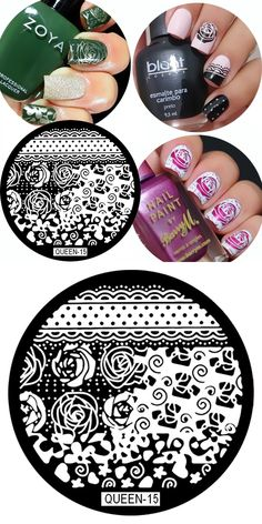[Visit to Buy] HOT 1 Pc Queen15 Rose Flower Nail Art Stamp Template Image Plate Nail Stamping Plates #Advertisement