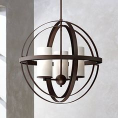 "Morris 21"" Wide 3-Light Bronze Sphere Pendant Light - #8G458 
