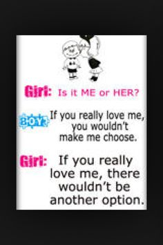 Me or her