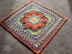 12 in crochet square. Free pattern.