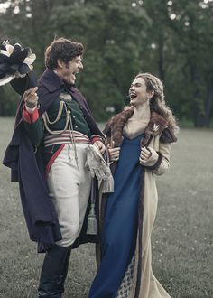 War and Peace ~ James Norton and Lily James having fun behind the scenes!
