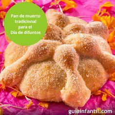 No dejes que se pierda la tradición y aprende a cocinar este delicioso postre con tus hijos: pan de muerto. http://www.guiainfantil.com/recetas/postres-y-dulces/receta-de-pan-de-muerto-para-el-dia-de-todos-los-santos/