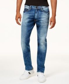 Sean John Men's Athlete Relaxed Tapered-Fit Stretch Jeans - Blue 40x32
