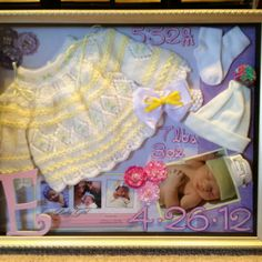I made this shadow box for my new baby girl. Got lots if inspiration from Pinterest!! Decor Crafts, Diy Room Decor, Crafts For Kids, Shadow Box Art, Baby Bunting, New Baby Girls, Diy Stuff, Printers, Baby Ideas