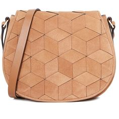 Welden Escapade Saddle Bag ($400) ❤ liked on Polyvore featuring bags, handbags, shoulder bags, tan, leather shoulder handbags, tan shoulder bag, leather saddle bag purse, red leather handbags and red handbags