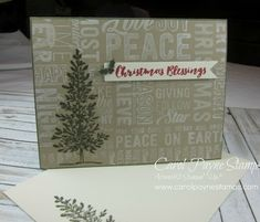 Card #1 for my September Online Class. I really enjoyed making this card. More info and views are on my blog: http://www.carolpaynestamps.com/2016/09/stampin-up-merry-medley-lovely-as-a-tree.html