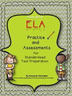 """This packet is designed to help your littlest test takers get a sense of what taking a standardized reading test in kindergarten is all about.  This is a comprehensive test that covers all areas of a standardized reading test.  It took many hours to create questions that would be similar to what a student may experience on any standardized test, and it has really helped my students to prepare for the """"big test""""."""