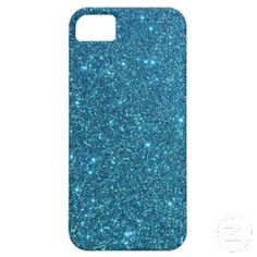 Cute Blue Glitter Sparkles iPhone 5 Cases