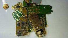 Como extraer ORO de telefonos moviles rotos.Parte 1.How extracting Gold ...