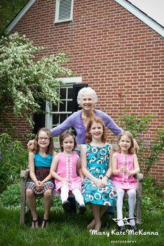 Grandma and her grandkids.