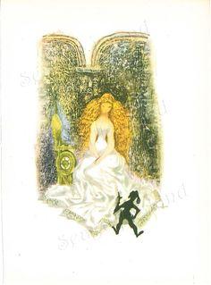 Rumplestiltskin 1960s Fairy Tale Illustration by Jiri Trnka by SeagullIsland, $8.00