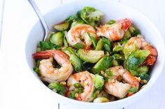 Honey Sesame Shrimp and Brussels Sprouts Stir Fry