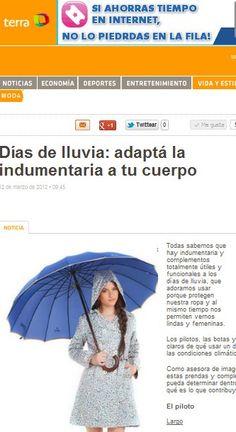 Terra  Tips para saber cómo vestirte cuando llueve.  (Marzo de 2012)