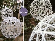 A more eco-friendly approach to creating the hanging twine balls #decor